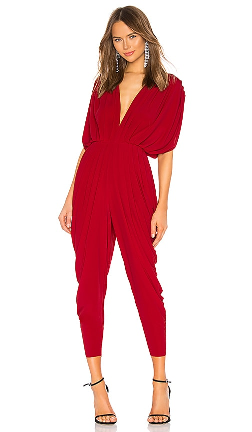 Square Sleeve Waterfall Jumpsuit