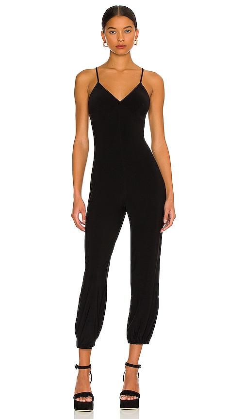 9e600a4241f0 Norma Kamali Slip Jog Jumpsuit in Black