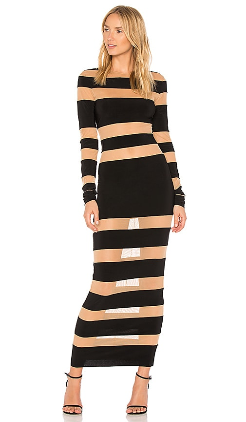 Norma Kamali Spliced Dress in Black