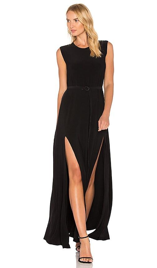 Norma Kamali Sleeveless Elephant Dress in Black