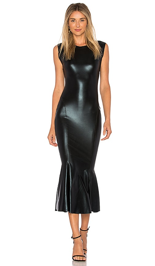 Norma Kamali Sleeveless Midi Dress in Black