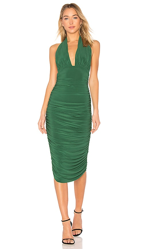 Norma Kamali Halter Dress in Green