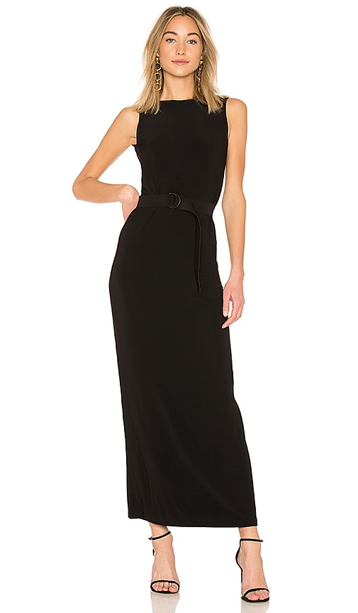 Norma Kamali Sleeveless Low Back Dress in Black