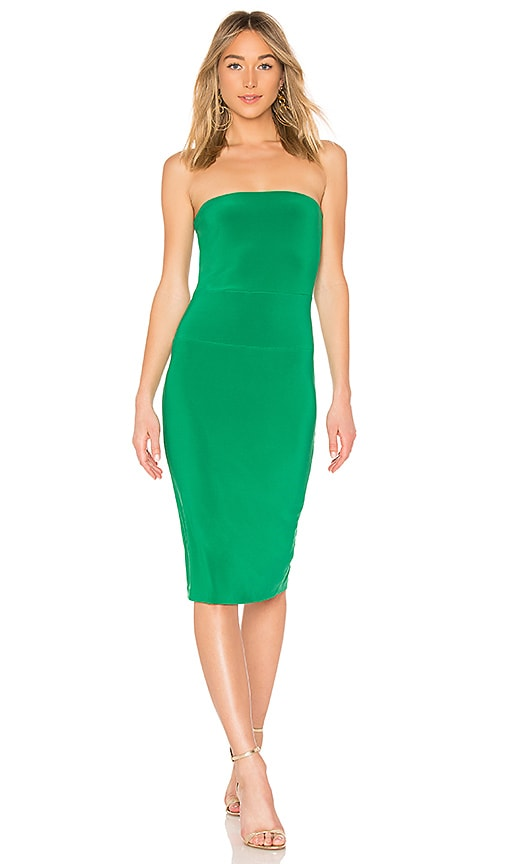 Norma Kamali x REVOLVE Strapless Dress in Green
