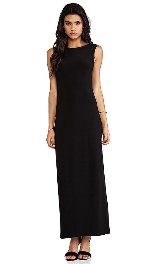 V Back Neck Gown