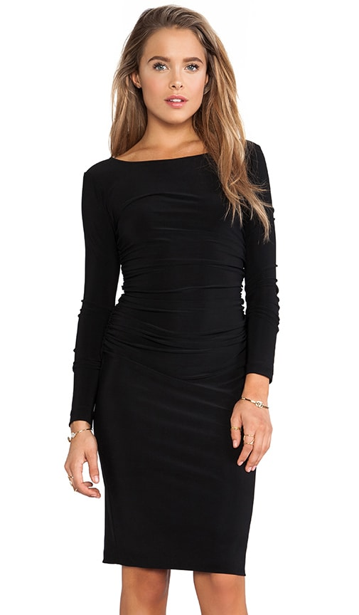 KAMALIKULTURE Long Sleeve Shirred Waist Dress