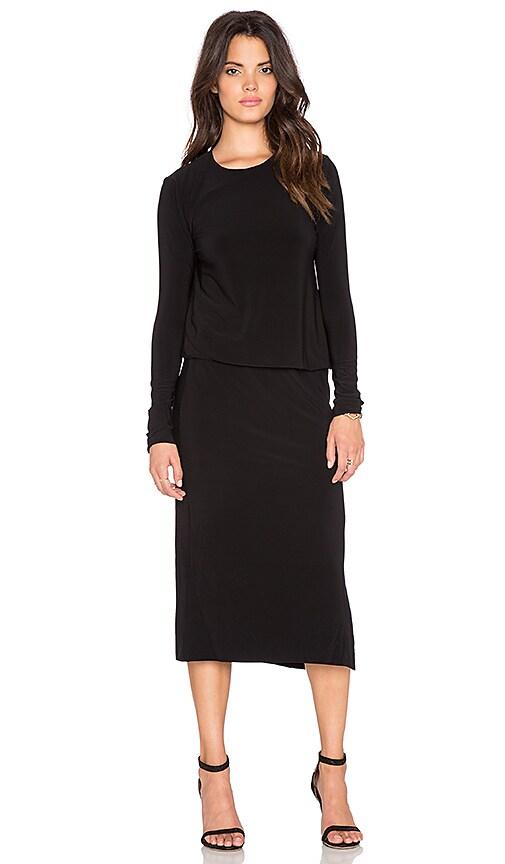 fitted midi dress - Black Norma Kamali AViRQ4NIW