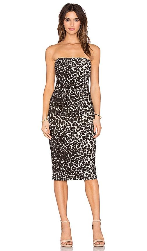 Norma Kamali Strapless Dress in Cheetah