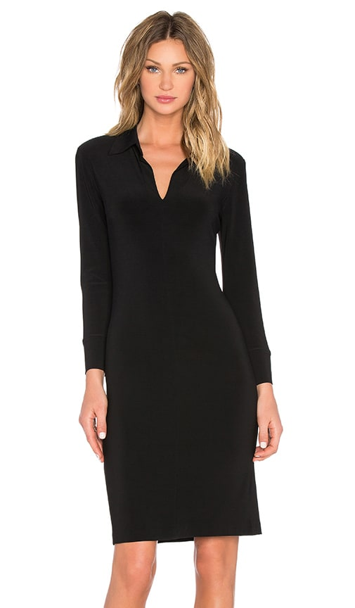 Norma Kamali KAMALIKULTURE Shirt Dress in Black