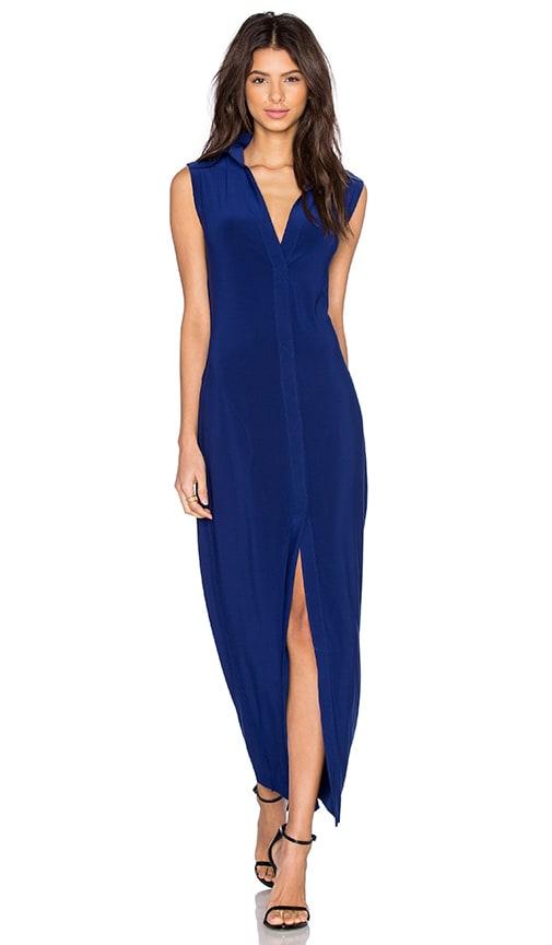 Norma Kamali KAMALIKULTURE Nk Shirt Dress in Blue