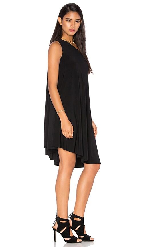 Norma Kamali KAMALIKULTURE One Shoulder Swing Dress in Black
