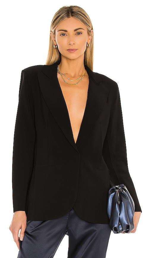 Norma Kamali Single Breasted Jacket in Black