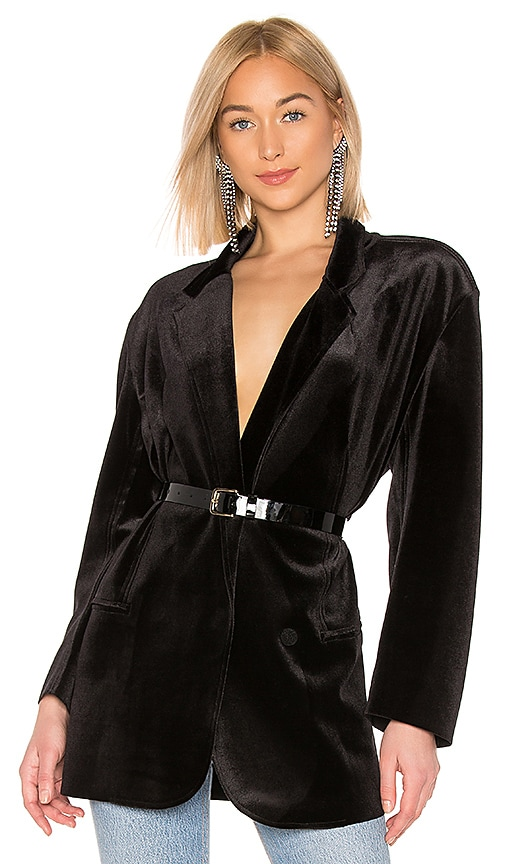 Oversized Double Breasted Velvet Jacket