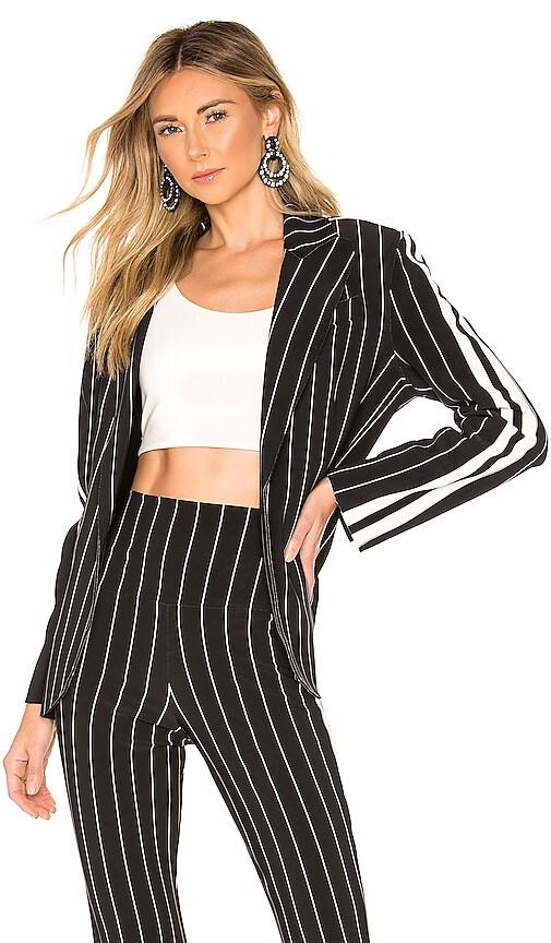 Side Stripe Single Breasted Jacket