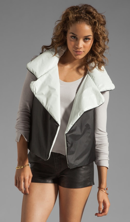 Nylon Sleeping Vest Reversible Coat