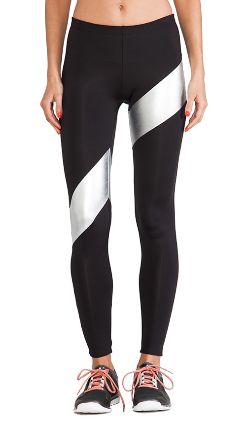 Spliced Diagonal Legging