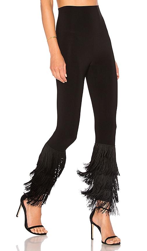 Norma Kamali Fringe Hem Legging in Black | REVOLVE