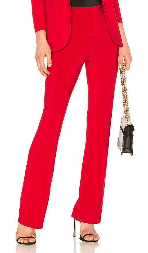 Norma Kamali Boot Pant in Red