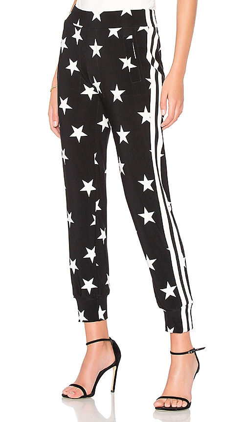 Side Stripe Jog Pant in Black & White. - size L (also in M,S,XS,XXS) Norma Kamali