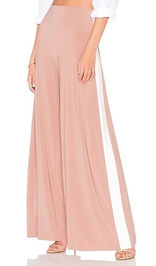 Norma Kamali Side Stripe Elephant Pant in Rose