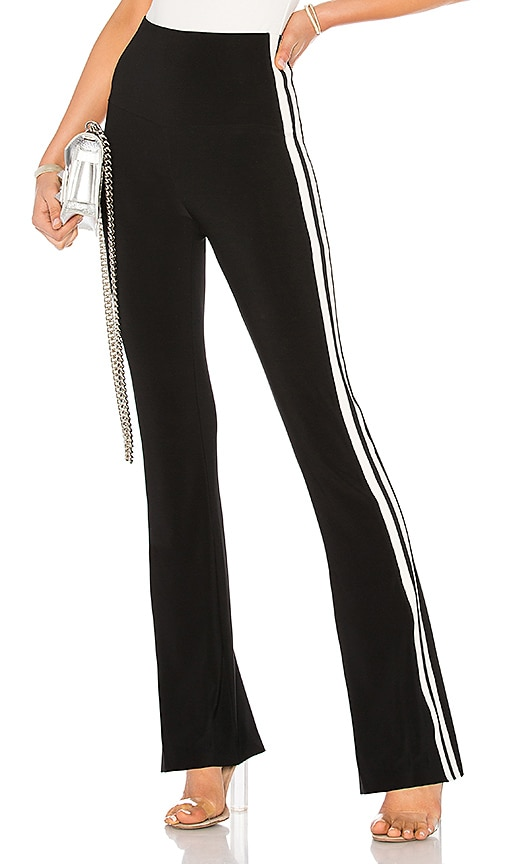 Norma Kamali Side Stripe Boot Pant in Black