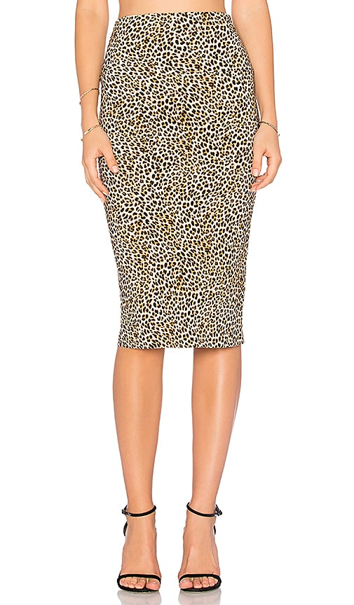 Norma Kamali Straight Skirt in Brown