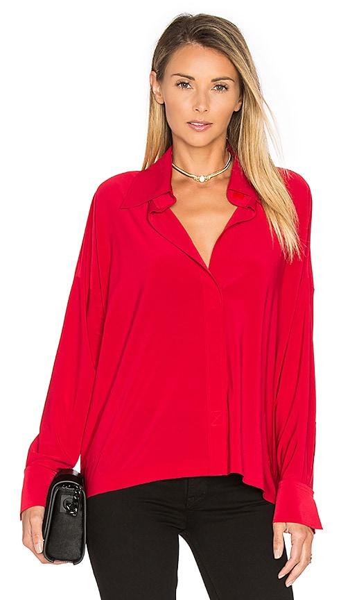 Norma Kamali NK Box Shirt in Red