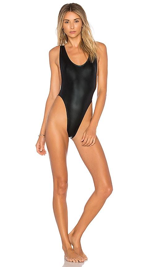 Norma Kamali Marissa One Piece in Black