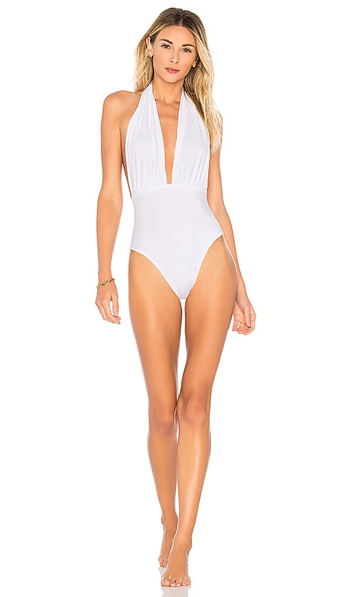 x REVOLVE Halter Low Back One Piece