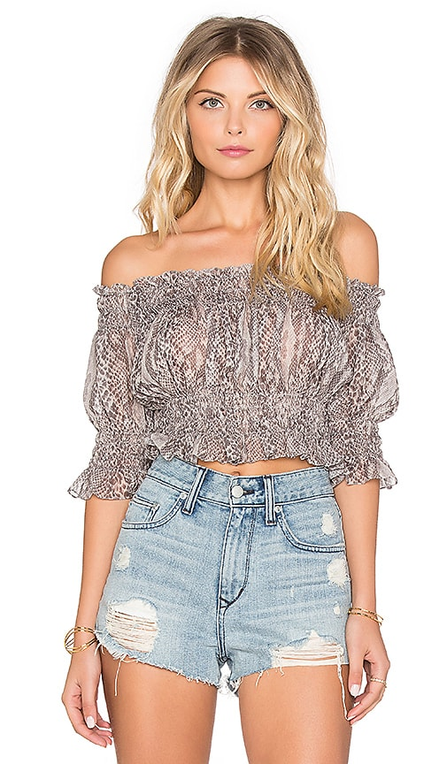 Norma Kamali Crop Top in Python