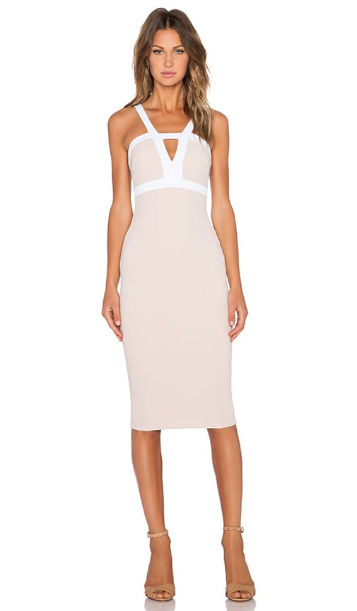 Nookie Seymour Bodycon Dress in Nude