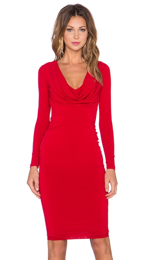 Bellissima Long Sleeve Reversible Drape Dress