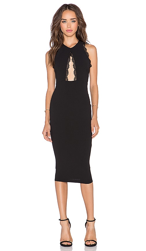 Nookie Sweet Life High Neck Dress in Black