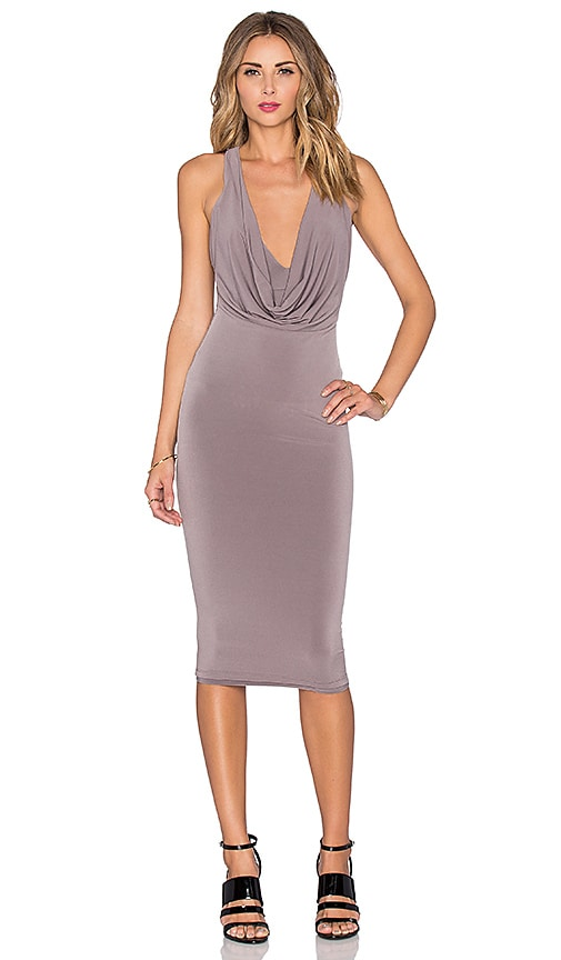 Nookie Halle Drape Dress in Taupe