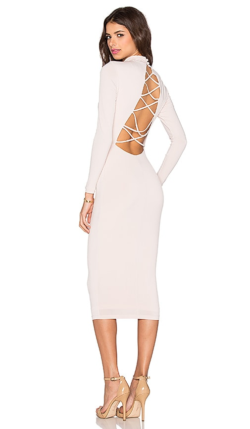 Nookie Tropicana Backless Dress in Nude