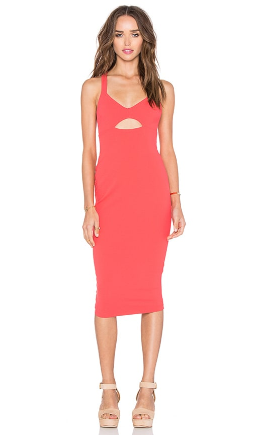 Nookie Donna Bodycon Dress in Coral