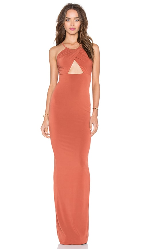 Nookie Disco Dolls Maxi Dress in Rust