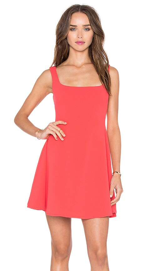 Nookie Sweet Sensation Skater Dress in Coral