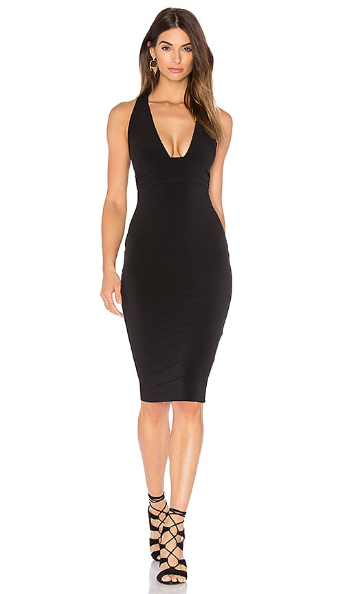 Nookie Cherish Midi Dress in Black