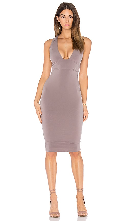 Nookie Cherish Midi Dress in Taupe