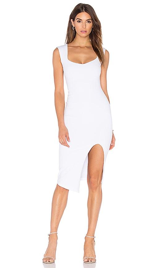 Nookie Captivate Square Neck Midi Dress in White