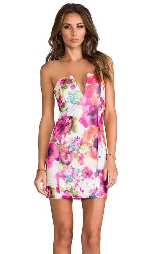 V-Front Bustier Dress