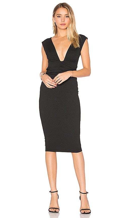 Nookie Royal Midi Dress in Black