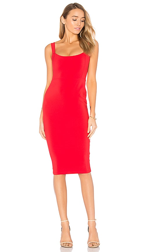 Nookie Glamour Dress in Red