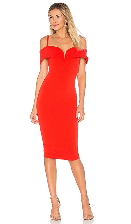 Nookie Pretty Woman Midi Dress in Red