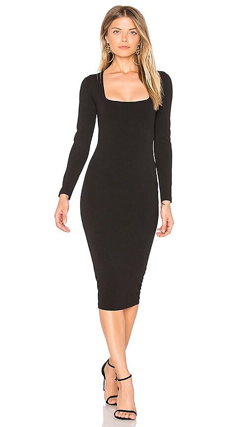 Nookie Manhattan Midi Dress in Black