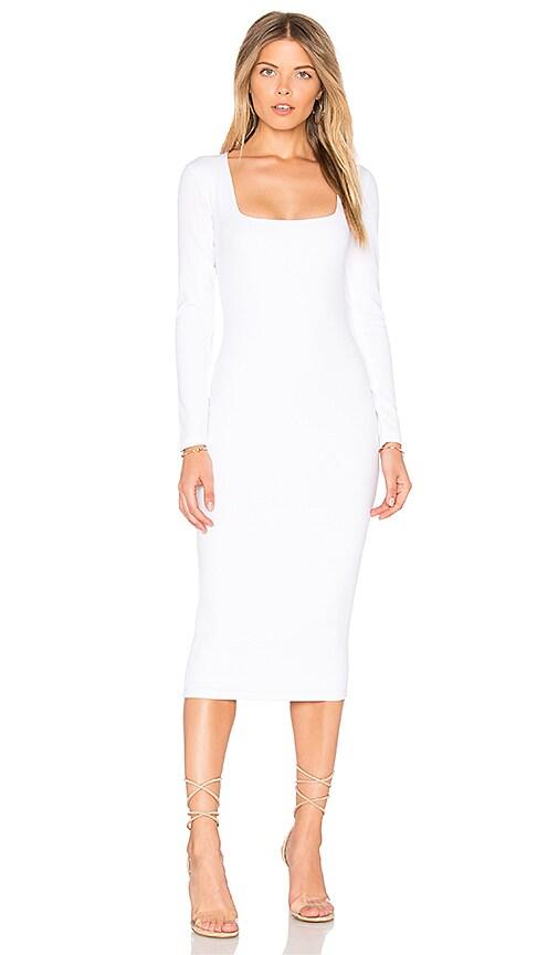 Nookie Manhattan Midi Dress in White