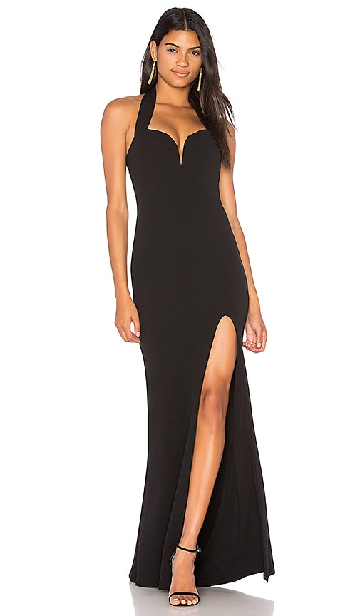 NOOKIE Honey Strapless Gown in Black