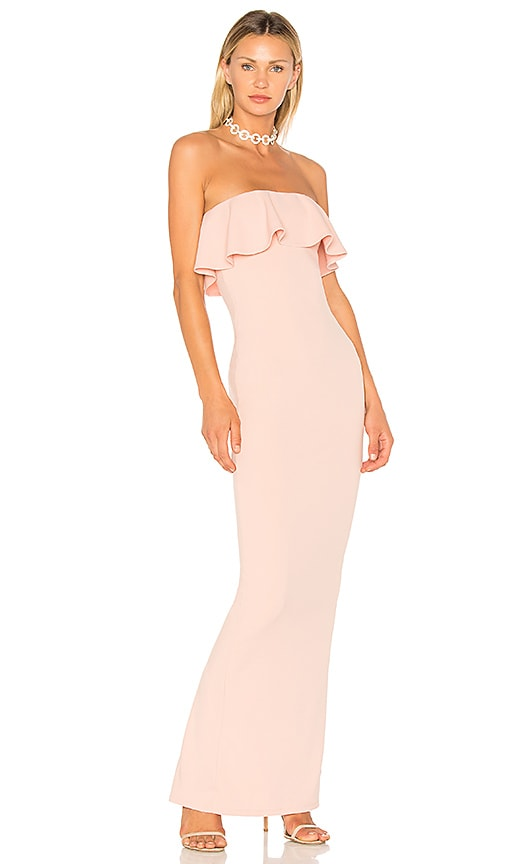 NOOKIE Hermosa Strapless Gown in Blush