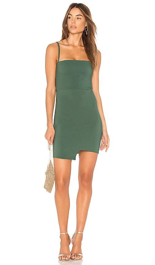 NOOKIE Billie Mini Dress in Green